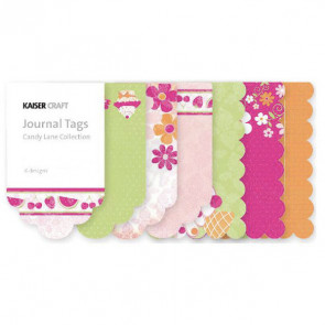 KaiserCraft Candy Lane Mini Journal Tags Die-Cut Paper Pad TASTER