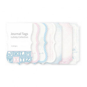 KaiserCraft Lullaby Mini Journal Tags Die-Cut Paper Pad TASTER