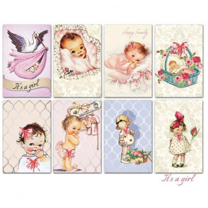 Decorer Scrapbook Sæt Mini Mini - It's A Girl TASTER