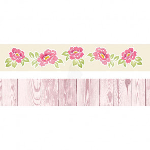 "Galeria Papieru Colorful Meadow Pynte Strips 2x12"" - Rose"