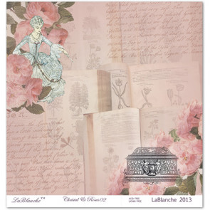 "LaBlanche Papers ""Crystal & Roses"" 02 Dobbeltsidet 12x12"""