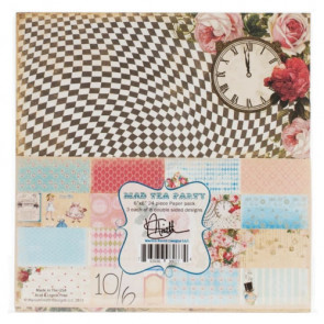"Marion Smith Designs Paper Pack 6x6"" - Mad Tea Party TASTER"