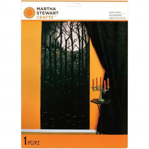 "Martha Stewart Crafts Halloween Scene Setter 1/Pkg 70x30"" - Dark Forest"
