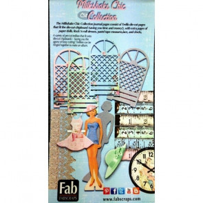 FabScraps Milkshake Chic Pre-Cuts Packets, Each With 12 Designs TASTER