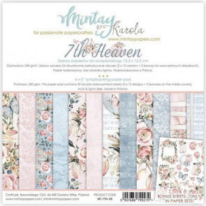 "Mintay 7th Heaven 6x6"" Scrapbooking Paper Set"