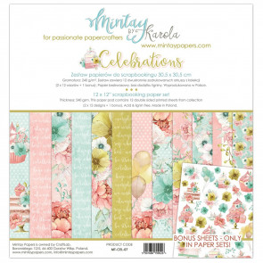 "Mintay Celebrations 12x12"" Scrapbooking Paper Set"