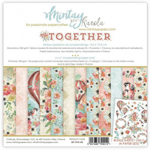 """Mintay Together 6x6"""" Scrapbooking Paper Pad"""