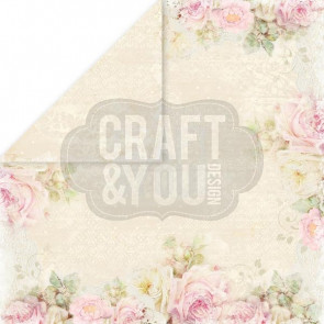 "Craft & You Design My Wedding Dobbeltsidet Cardstock 12x12"" Paper - 03"