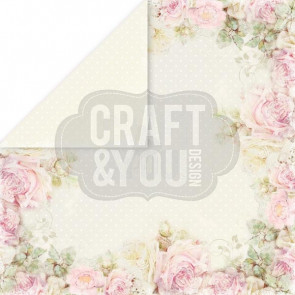 "Craft & You Design My Wedding Dobbeltsidet Cardstock 12x12"" Paper - 04"
