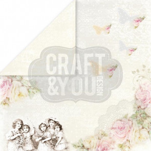 "Craft & You Design My Wedding Dobbeltsidet Cardstock 12x12"" Paper - 05"