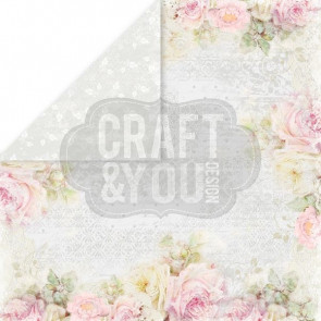 "Craft & You Design My Wedding Dobbeltsidet Cardstock 12x12"" Paper - 06"