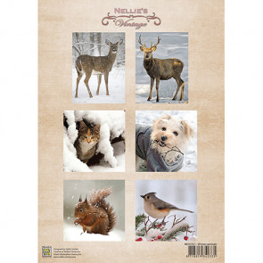 Nellie's Vintage A4 Ark - Winter Animals