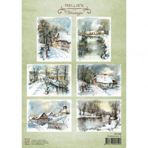 Nellie's Vintage A4 Ark Christmas Time 5