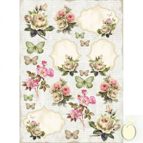 LemonCraft A4 Scrapbooking Paper, House Of Roses, Labels 2