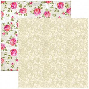 "Marion Smith Design Posh Double Sided Cardstock 12x12"" - Chic Lace"
