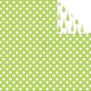 "KaiserCrafts Mint Twist 12x12"" Dobbeltsidet Cardstock - Peppermint"