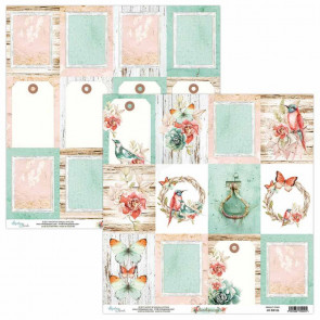 """Mintay Birdsong Double-Sided Cardstock 12x12"""" Design 6"""