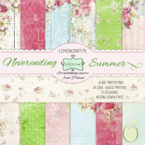 "LemonCraft 6x6"" Paper Pad - Neverending Summer"