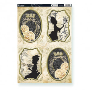 A4 Kanban Paper Craft Toppers - Regal Ladies - Cream