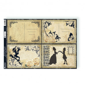 A4 Kanban Paper Craft Toppers - Baroque Postcards