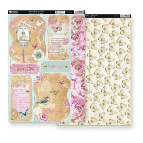 Kanban A4 Paper Craft Toppers - Butterflies & Roses & Background Card Butterflies On Driftwood