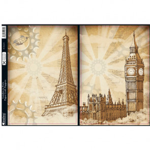 Kanban Paper Craft Toppers - London to Paris