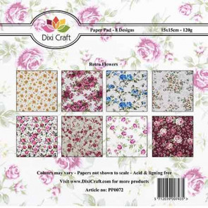 "Dixi Craft 6x6"" Paper Pack - Retro Flowers TASTER"