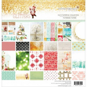 "Webster's Pages12x12"" Scrapbooking Paper - All That Glitters TASTER"