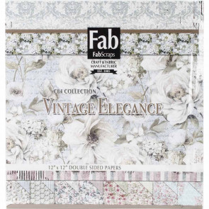 "FabScraps Double-Sided Cardstock Pad 12x12"" - Vintage Elegance TASTER"