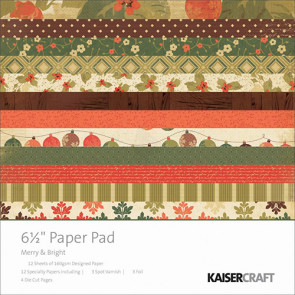 "KaiserCraft Merry & Bright Paper Pad 6.5x6.5"" TASTER"