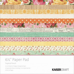 KaiserCraft Tropical Punch Paper Pad 6.5x6.5""