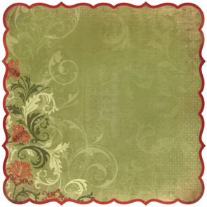 "Kaisercraft Twig & Berry Die-Cut Paper 12x12"" - Greetings"