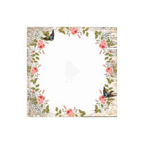 "KaiserCraft Porcelain Rose Acetate 12x12"" Blue Bird"