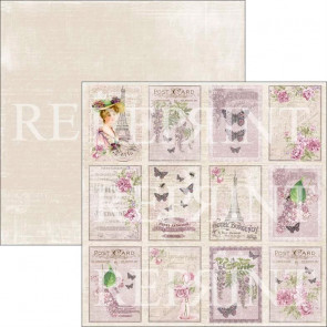 "Reprint Lilac Paris 12x12"" Dobbeltsidet Scrapark Little Tags 2"