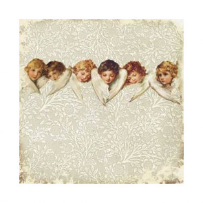 "Decorer Julepapir 8x8"" - Angels 3"