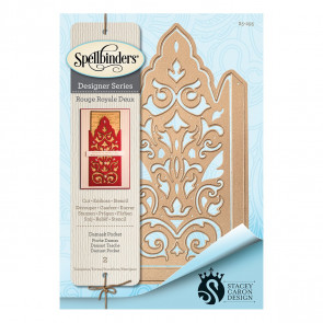 Spellbinders Shapeabilities Damask Pocket Etched Dies