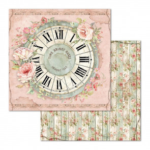 "Stamperia Double-Sided Cardstock 12x12"" Clock"
