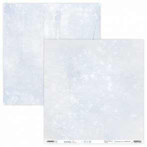 "StudioLight Dobbeltsidet Cardstock 12x12"" Light Winter Charm - NR. 93"
