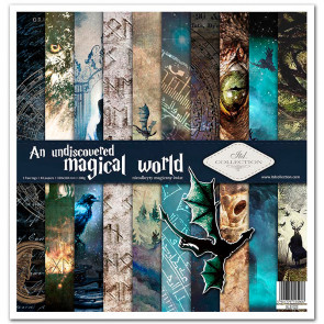 """ITD Collection 12x12"""" Scrapbooking Sæt An Undiscovered Magical World"""