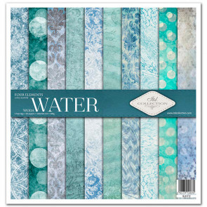 """ITD Collection 12x12"""" Scrapbooking Sæt Four Elements - Water"""