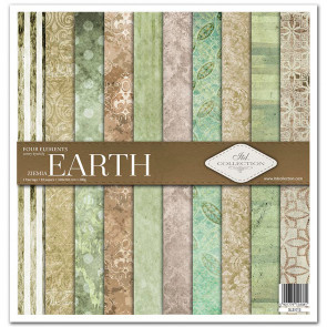 """ITD Collection 12x12"""" Scrapbooking Sæt Four Elements - Earth"""
