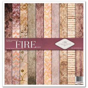 """ITD Collection 12x12"""" Scrapbooking Sæt Four Elements - Fire"""