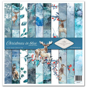 """ITD Collection 12x12"""" Scrapbooking Sæt Christmas In Blue"""