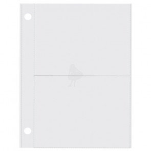 "Simple Stories Sn@p! Pocket Pages For 4x6"" Binders (2) 3x4"" Vertical Pockets 1 stks"