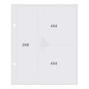 "Simple Stories Sn@p! Pocket Pages For 6x8"" Binders - (1) 2x8"" & (2) 4x4"" Pockets 1 Stk"