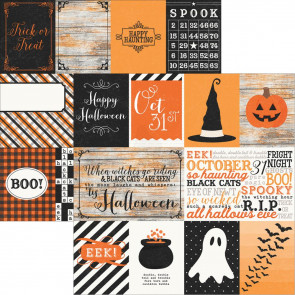 "Simple Sets Happy Haunting Dobbeltsidet Elements 12x12"" - Journaling Cards"
