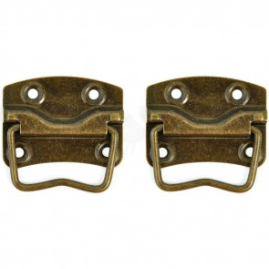 KaiserCraft Metal Håndtag Treasures Case Handle With Backplate 2/Pkg - Antique Brass