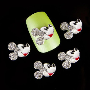 Beyond Visions Metal Pynt Nail Art - Rhinsten 3D Mickey