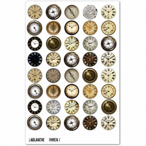 "LaBlanche A4 Cut Out Sheet ""Uhren 1"" Clocks"