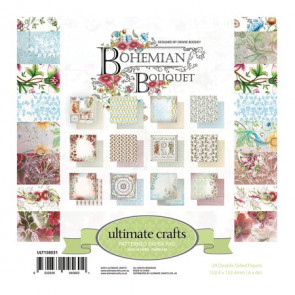 "Ultimate Crafts Double-Sided Paper Pad 6x6"" 24/Pkg Bohemian Bouquet"